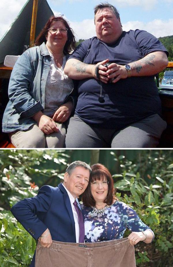 【比較画像】太ったカップルが痩せた (7)