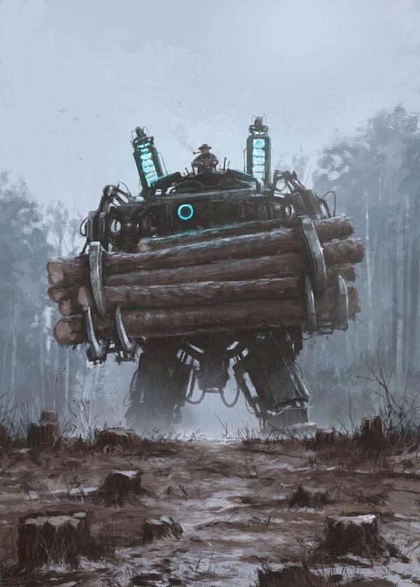 レトロな時代背景に機械的なSF要素。戦争を描いた空想世界 (4)