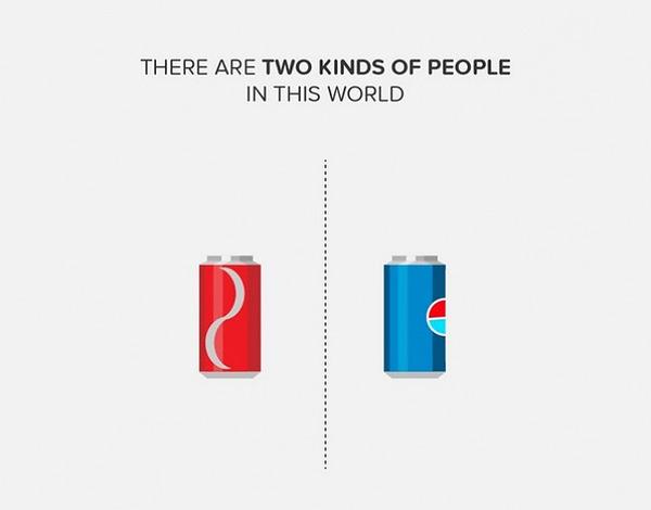 二種類の人間。シンプルなカラーイラストで表現 (3)