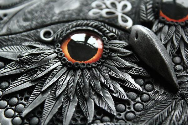 フクロウのブックカバー 3