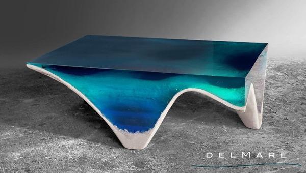清涼感が半端ない!海からインスピレーションを得たテーブル (2)