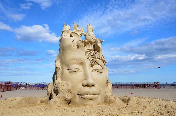 砂の彫刻コンテスト ハンプトン・ビーチ (7)