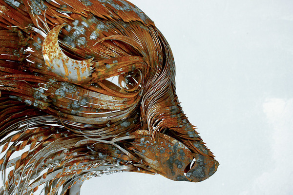 狐(キツネ)の金属彫刻