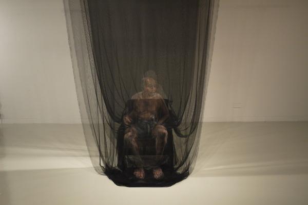 幽霊のように浮かぶ!薄手の生地に描かれた肖像画 (5)