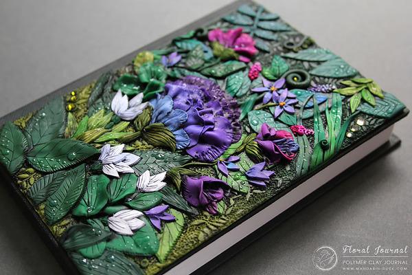 花のブックカバー