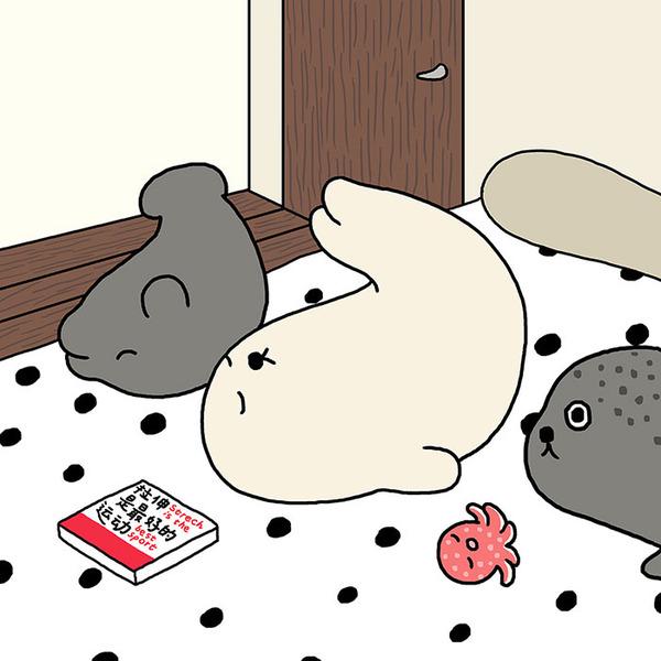 ゆ、ゆるすぎる!アザラシの日常生活を描いた癒されイラスト (36)
