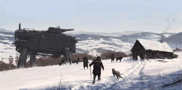 レトロな時代背景に機械的なSF要素。戦争を描いた空想世界 (16)