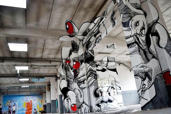 立体的なグラフィティアート!アナモルフィックで3Dな壁画 (4)