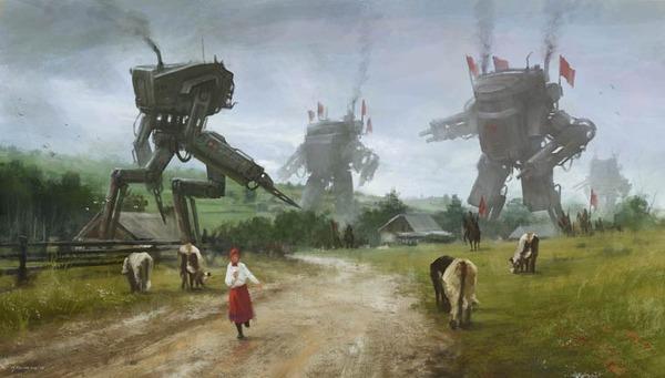 レトロな時代背景に機械的なSF要素。戦争を描いた空想世界 (20)