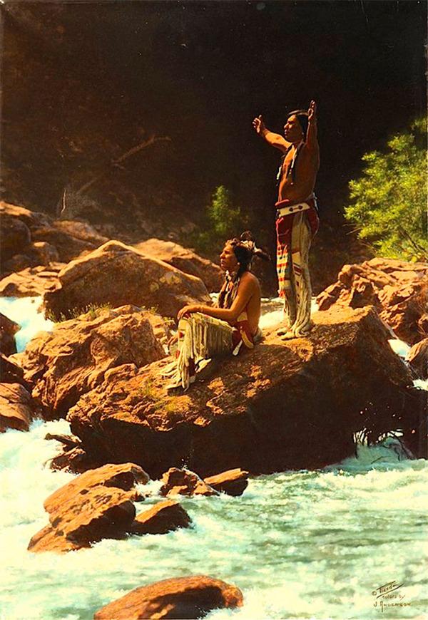 インディアン(ネイティブ・アメリカン)の貴重なカラー化写真 (38)