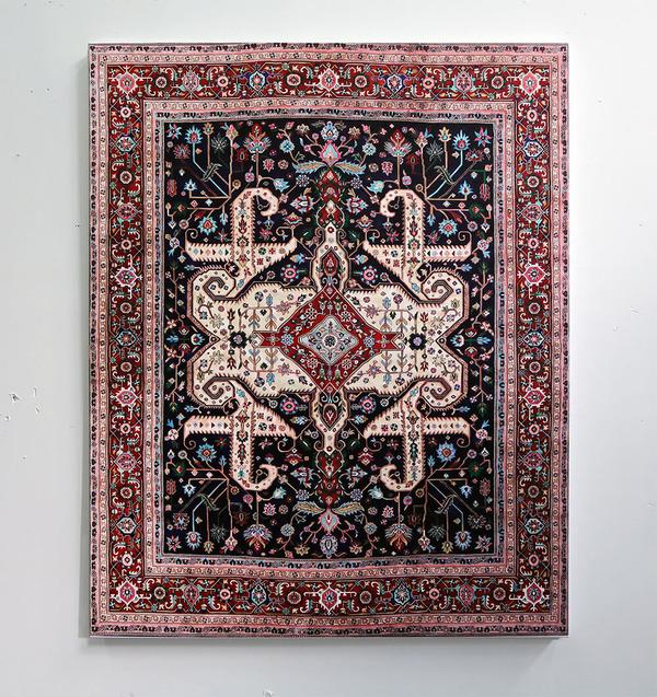 ゴージャスなペルシャ絨毯…を限りなく再現した絵画 (1)
