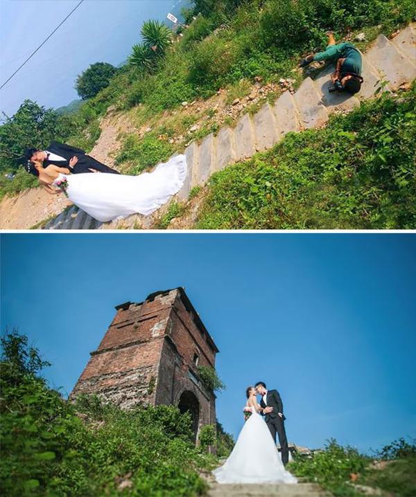 結婚写真の裏で頑張るカメラマンの努力画像 (18)