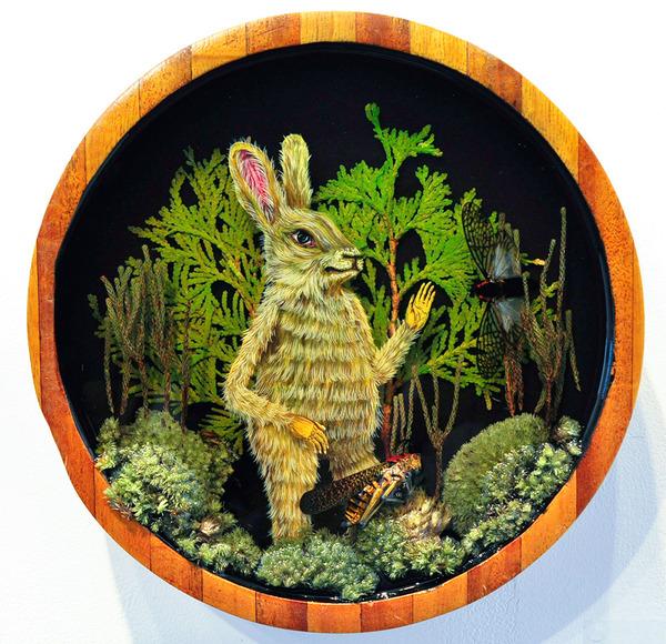 人間に進化したかのような森の動物アート Drew Mosley 4