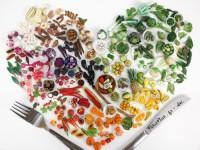 ポリマークレイで作る!野菜と果物の超小さい彫刻