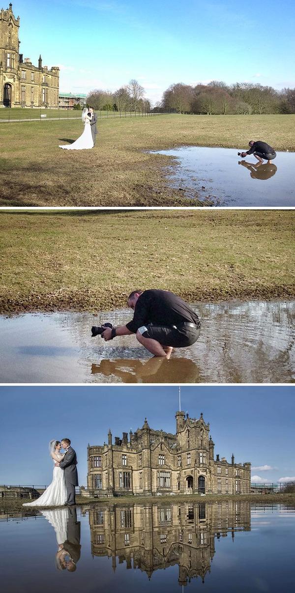結婚写真の裏で頑張るカメラマンの努力画像 (14)