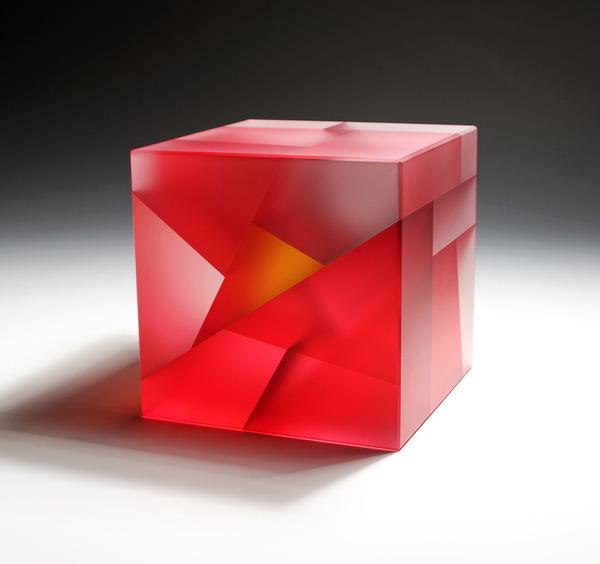 細胞分裂のガラスアート セグメンテーション