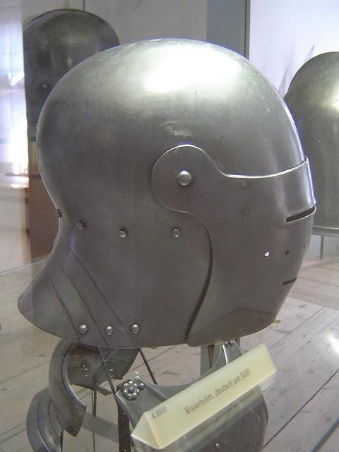 1490製ヘッドギア  ドイツのバイエルン陸軍博物館