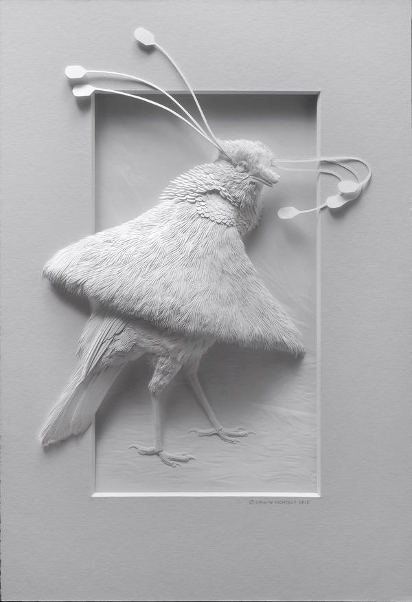 動物をモチーフにした立体感溢れる美しい紙の彫刻作品 (3)