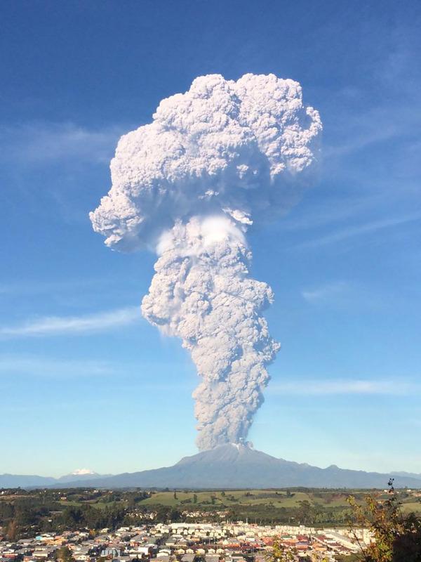 チリのカルブコ火山噴火 2015年 3