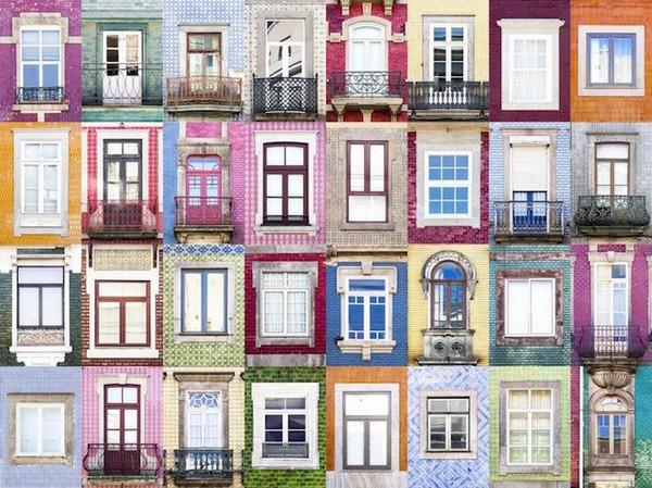 ポルトガル、ポルトの玄関ドア