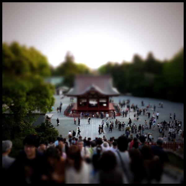 ミニチュアジオラマ風の東京の写真!チルトシフト (4)