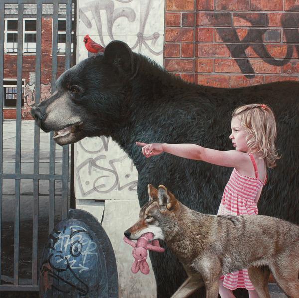 少女と動物と街。壊れた世界のコントラストをリアルに描く (2)