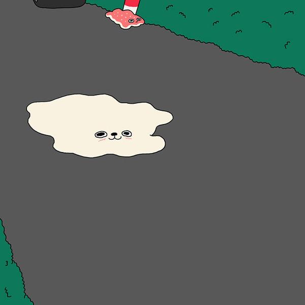 ゆ、ゆるすぎる!アザラシの日常生活を描いた癒されイラスト (14)