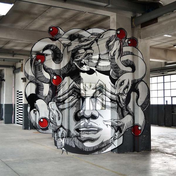 立体的なグラフィティアート!アナモルフィックで3Dな壁画 (3)