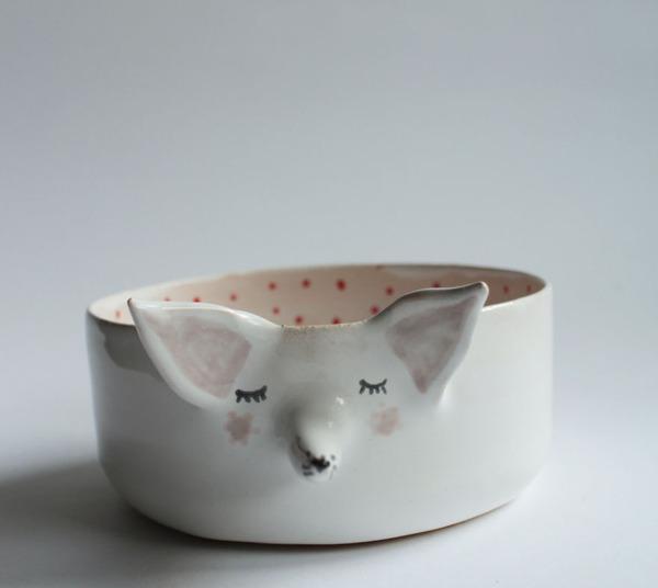 ほのぼのかわいい!瞳を閉じた動物たちの手作り陶磁器 (4)