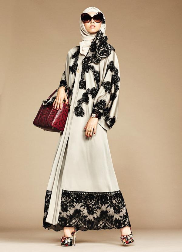 ヒジャブとアバヤのモダンファッション by ドルチェ&ガッバーナ (7)