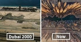 【比較画像】わずか数十年!近代化し発展した世界の都市景観