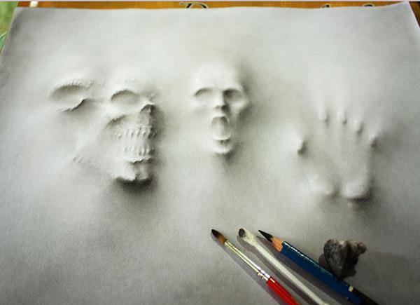 死霊が浮き出るホラーな3D絵画 jerameel-lu 1