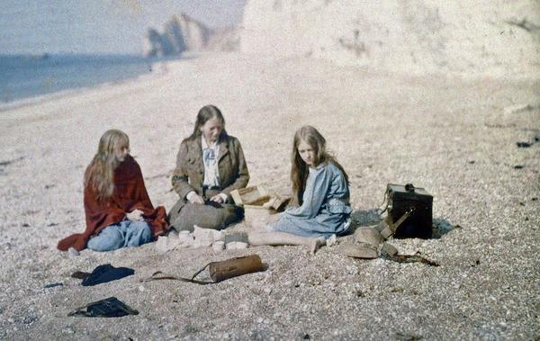 100年前のカラー写真,クリスティーナ,オートクローム 8