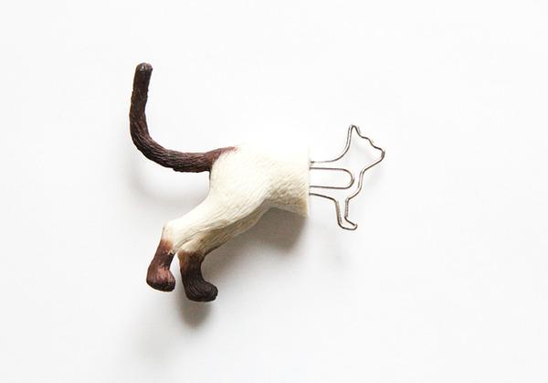 シンプルかわいい!面白い形をした動物の栞(しおり) (4)