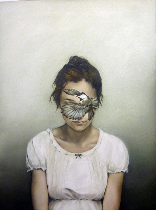 頑なに顔は見せない!顔が隠されたシュールな女性の肖像画 (15)