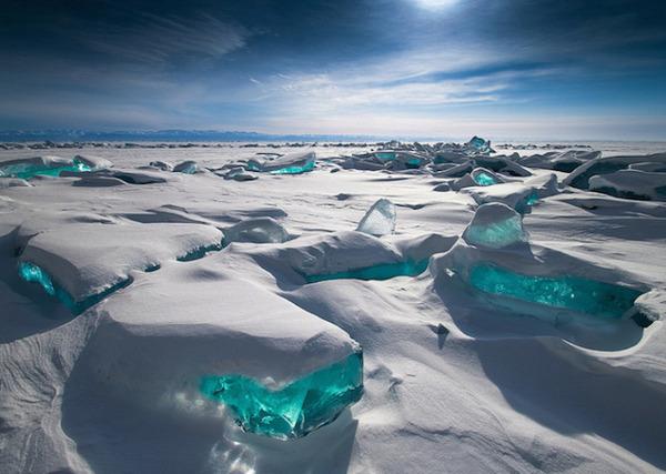 ロシア・バイカル湖 , ターコイズ , 宝石 , 美しい氷