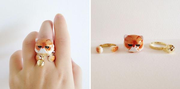 三つで一つの動物指輪。かわいいアニマルリング! (5)