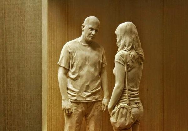 Peter Demetz の木の彫刻 7
