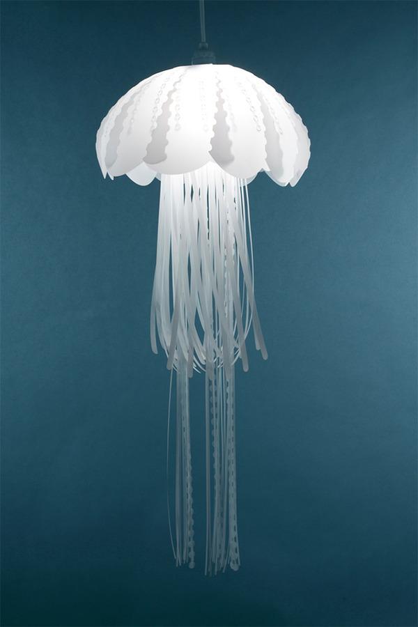 ゆらゆらクラゲのデザイン。クラゲをモチーフにした室内ランプ (3)