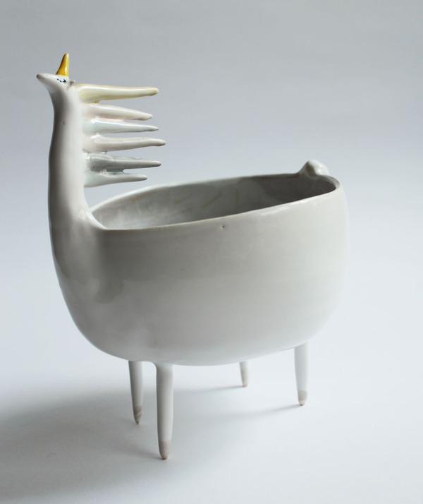 ほのぼのかわいい!瞳を閉じた動物たちの手作り陶磁器 (13)