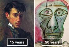 ピカソの自画像!15歳から90歳までの肖像画