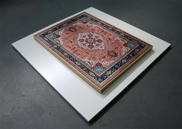 ゴージャスなペルシャ絨毯…を限りなく再現した絵画 (3)