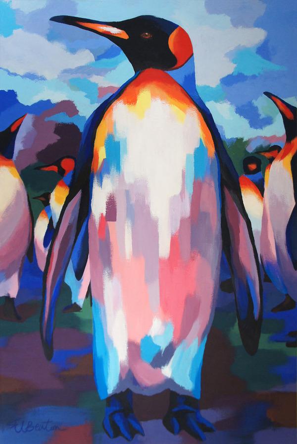 超カラフルな動物の肖像画シリーズ (19)