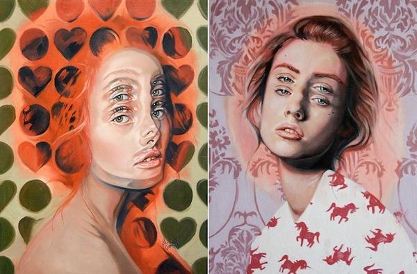 ダブルビジョンの錯視絵画アート  アレックス・ガーランド 1
