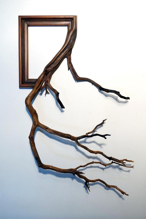 ねじれた木の形を生かしたヴィンテージで華やかな額縁 (9)