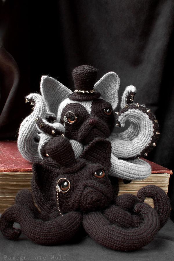 キモカワ?タコの足とイヌの顔が合体している編み物『Octodogs』 (4)