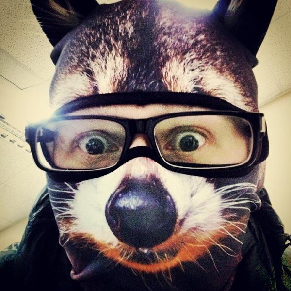 動物気分でスキー!動物の顔がプリントされたフェイスマスク (3)
