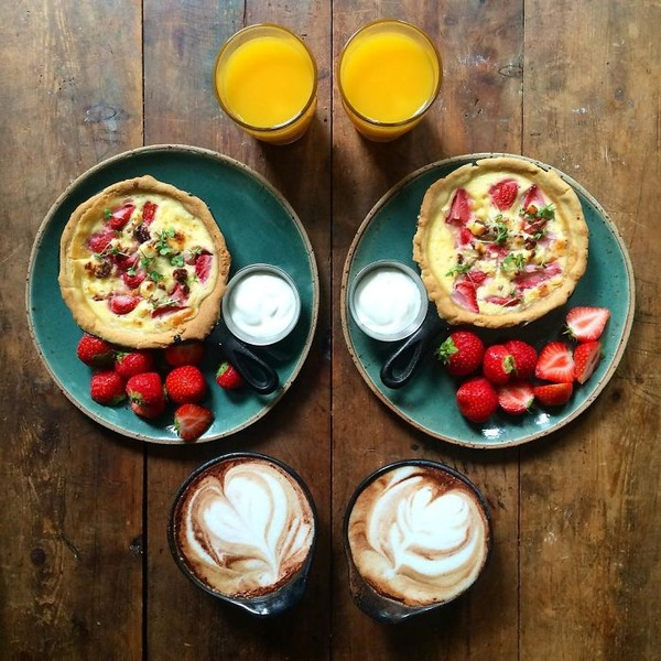 美味しさ2倍!毎日シンメトリーな朝食写真シリーズ (41)