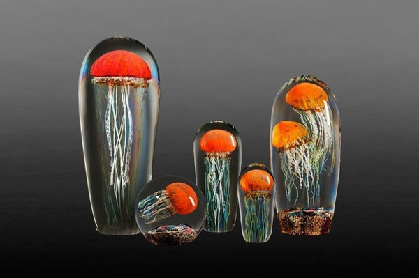 クラゲのガラスアート Richard Satava 3