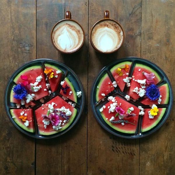 美味しさ2倍!毎日シンメトリーな朝食写真シリーズ (28)